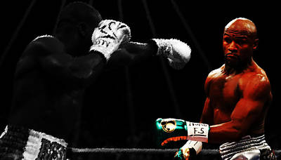 Floyd Mayweather Ducking And Dodging Poster by Brian Reaves