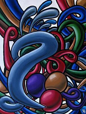 Fluid 1 - Abstract Art Painting - Chromatic Fluid Art Poster