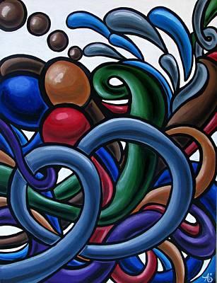 Fluid 2 - Original Abstract Art Painting - Chromatic Fluid Art Poster