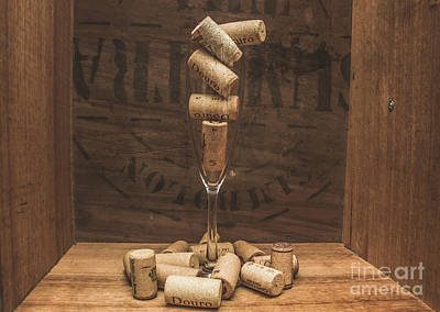 Flute Full Of Wine Corks Poster by Jorgo Photography - Wall Art Gallery