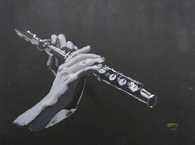 Flute Hands Poster