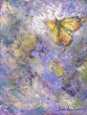 Flutterby - Original Butterfly In Flight Painting Poster by Quin Sweetman
