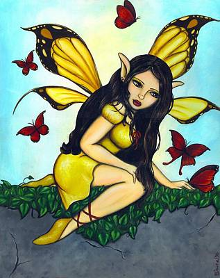Fluttering Visitors Poster by Elaina  Wagner