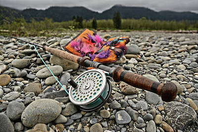 Fly Rod And Streamers Landscape Poster