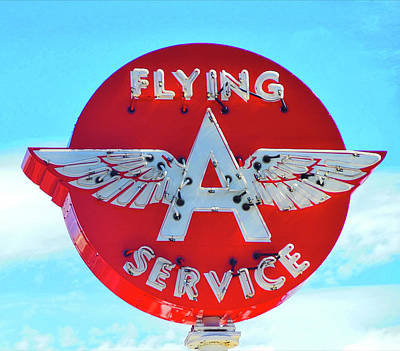 Flying A Service Sign Poster