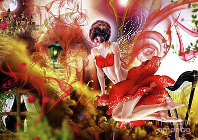 Flying Flower.. Eve Poster by Prar Kulasekara