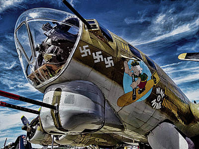 Flying Fortress Nose -artistic Poster