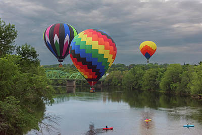 Flying Over The Androscoggin Poster