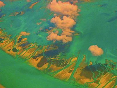 Flying Over The Keys, Florida Poster