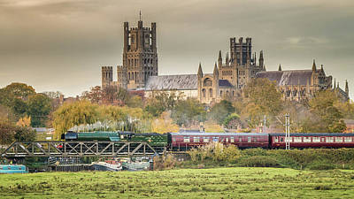 Flying Scotsman At Ely Poster