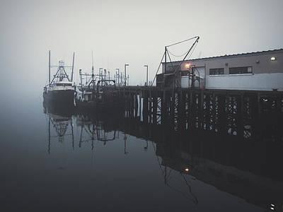 Fog Before Sunrise Poster