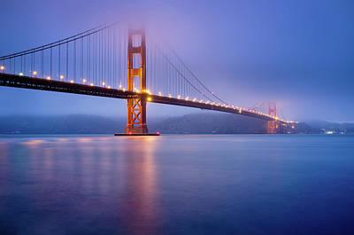 Fog City Bridge Poster by Jonathan Fleming