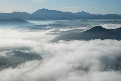 Fog Over Lake Hodges Poster by Alexander Kunz