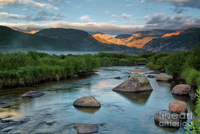 Fog Rolls In On Moraine Park And The Big Thompson River In Rocky Poster
