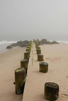 Fog Sits On Bay Head Beach - Jersey Shore Poster