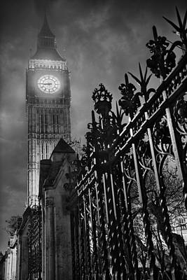 Foggy Big Ben Poster by Thomas Zimmerman