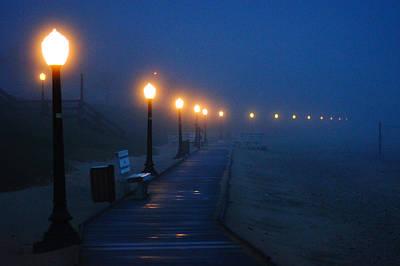 Foggy Boardwalk Blues Poster