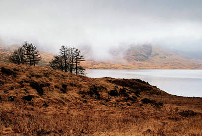 Foggy Day At Loch Arklet Poster by Jeremy Lavender Photography