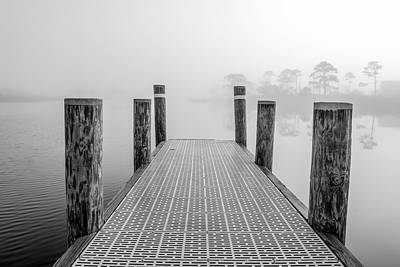 Poster featuring the photograph Foggy Dock In Alabama  by John McGraw