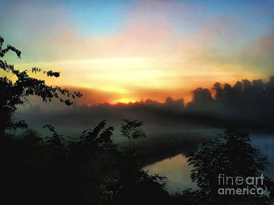 Foggy Edges Sunrise Poster