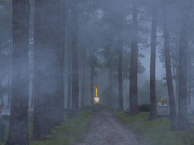 Foggy Hallowed Ground Poster by Kimo Fernandez