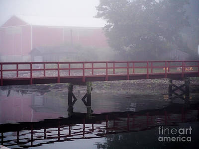 Foggy Morning At The Bridge Poster