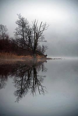 Foggy Morning At The Lake Poster
