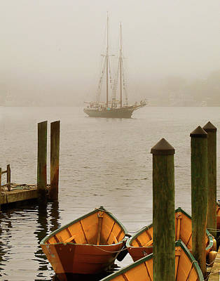 Foggy Morning In Gloucester Ma Poster