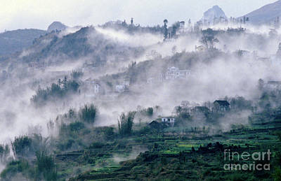 Foggy Mountain Of Sa Pa In Vietnam Poster