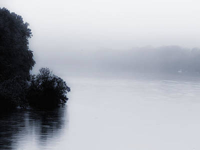 Foggy River Poster by Bill Cannon