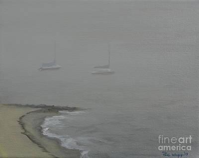Foggy Shore Poster