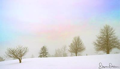 Foggy Winter Landscape 15 - Signed Limited Edition Poster