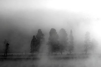 Foggy Yellowstone Poster
