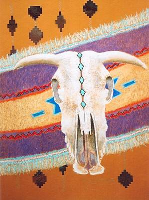 Foiled Skull Poster by M Diane Bonaparte