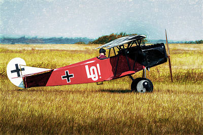 Poster featuring the photograph Fokker D Vii by James Barber