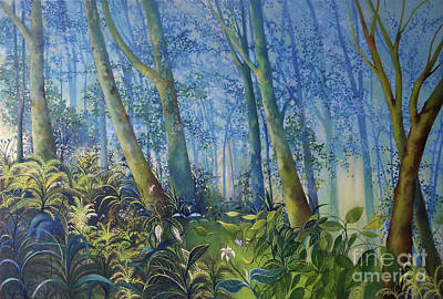 Follow Me Oil Painting Of A Magic Forest Poster