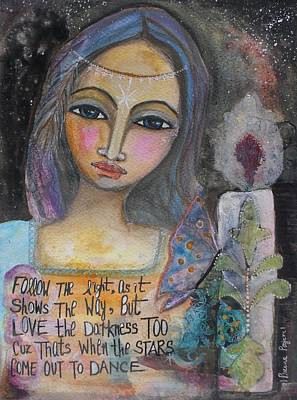 Poster featuring the painting Follow The Light by Prerna Poojara