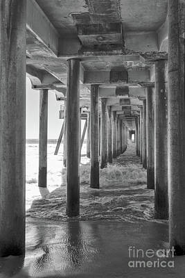 Poster featuring the photograph Follow The Lines Under Huntington Beach Pier by Ana V Ramirez