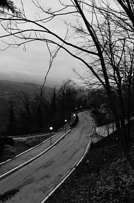 Follow The Road Poster by Andrea Mazzocchetti