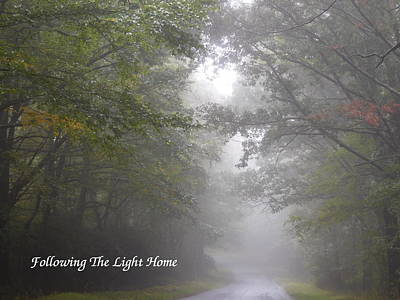 Following The Light Home Poster by Diannah Lynch