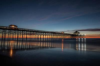 Folly Beach Pier Before Sunrise Poster
