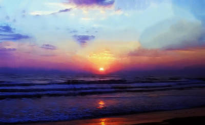 Folly Beach South Carolina Sunrise Poster