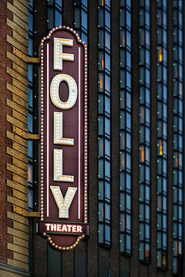 Folly Theater Sign Kansas City Poster
