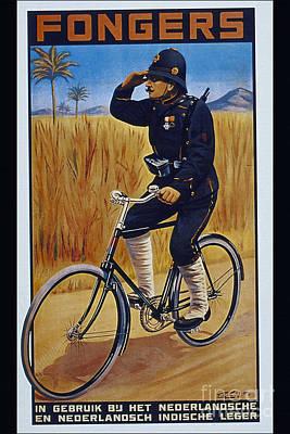 Fongers In Gebruik Bil Nederlandsche En Nederlndsch Indische Leger Vintage Cycle Poster Poster