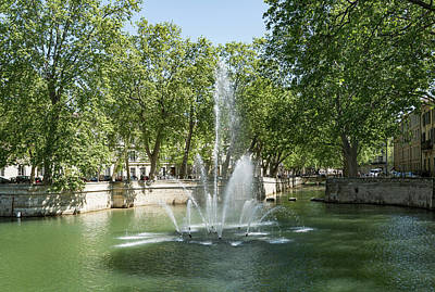 Poster featuring the photograph Fontaine De Nimes by Scott Carruthers