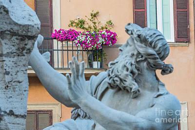 Fontana Dei Quattro Fiumi Poster by Joseph Yarbrough
