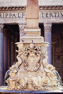 Fontana Del Pantheon - Pantheon Fountain II Poster by Melanie Alexandra Price