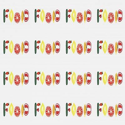 Food Pattern Poster by Kathleen Sartoris