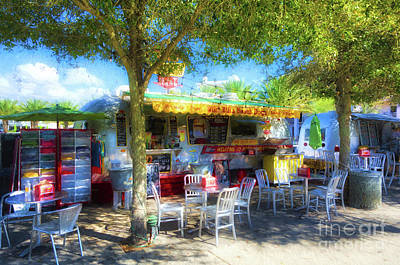 Food Trucks At Seaside Florida Poster