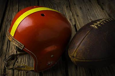 Football Helmet And Football Poster